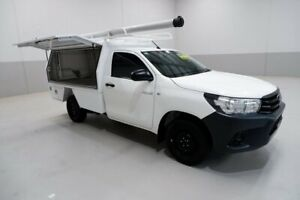 2019 Toyota Hilux TGN121R Workmate 4x2 White 5 Speed Manual Cab Chassis Kenwick Gosnells Area Preview