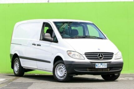 2009 Mercedes-Benz Vito 639 MY09 109CDI Low Roof Comp White 6 Speed Manual Van