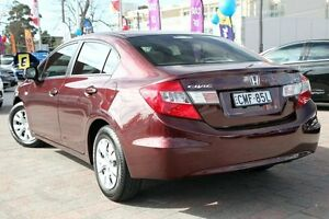 2012 Honda Civic Series 2 VTi Red 5 Speed Automatic Sedan Waitara Hornsby Area Preview