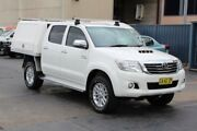 2014 Toyota Hilux KUN26R MY14 SR5 (4x4) White 5 Speed Automatic Dual Cab Pick-up Revesby Bankstown Area Preview