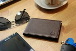 High Quality Leather Minimalist Wallet (Brown) - RFID SAFE
