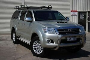 2012 Toyota Hilux KUN26R MY12 SR5 Double Cab Silver 4 Speed Automatic Utility Seaford Frankston Area Preview