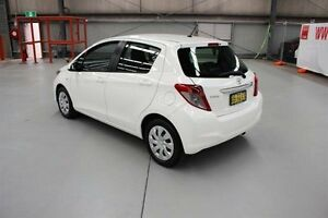 2012 Toyota Yaris NCP131R YRS White 4 Speed Automatic Hatchback Maryville Newcastle Area Preview