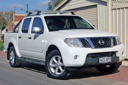 2011 Nissan Navara D40 S6 MY12 ST-X 550 White 7 Speed Sports Automatic Utility