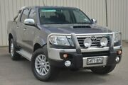 2014 Toyota Hilux KUN26R MY14 SR5 Double Cab Grey 5 Speed Automatic Utility Valley View Salisbury Area Preview
