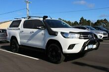 2015 Toyota Hilux GUN126R SR Double Cab White 6 Speed Sports Automatic Utility Devonport Devonport Area Preview