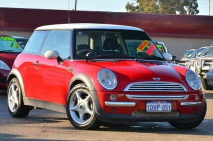 2004 Mini Hatch R50 MY03 Cooper Red 6 Speed Constant Variable Hatchback Morley Bayswater Area Preview