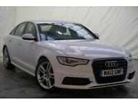 2012 Audi A6 2.0 TDI S LINE 4d AUTO 175 BHP Diesel white CVT
