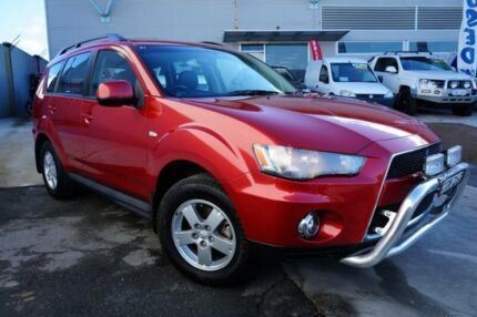 2011 Mitsubishi Outlander ZH MY12 Platinum Red 6 Speed Constant Variable Wagon