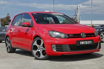 2012 Volkswagen Golf VI MY12.5 GTI DSG Red 6 Speed Sports Automatic Dual Clutch Hatchback Gymea Sutherland Area Preview