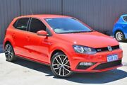 2016 Volkswagen Polo 6R MY16 GTI DSG Red 7 Speed Sports Automatic Dual Clutch Hatchback Midvale Mundaring Area Preview