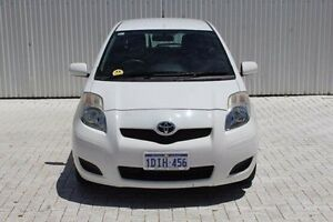 2009 Toyota Yaris NCP90R MY09 YR White 4 Speed Automatic Hatchback Embleton Bayswater Area Preview