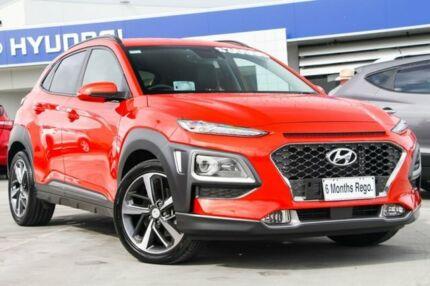 2018 Hyundai Kona OS MY18 Highlander 2WD Tangerine Orange 6 Speed Sports Automatic Wagon Hillcrest Logan Area Preview
