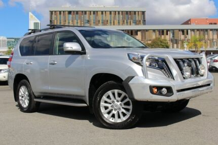 2016 Toyota Landcruiser Prado GDJ150R MY16 Kakadu (4x4) Silver Pearl 6 Speed Automatic Wagon Northbridge Perth City Area Preview