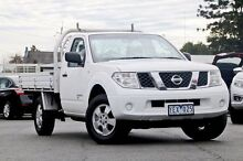 2010 Nissan Navara D40 RX White 6 Speed Manual Cab Chassis Beaudesert Ipswich South Preview