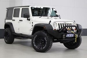 2010 Jeep Wrangler Unlimited JK MY09 Sport (4x4) White 6 Speed Manual Softtop Bentley Canning Area Preview