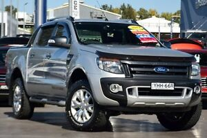 2014 Ford Ranger PX Wildtrak 3.2 (4x4) Silver 6 Speed Manual Crew Cab Utility Penrith Penrith Area Preview