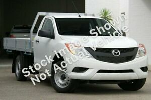 2013 Mazda BT-50 UP0YD1 XT 4x2 White 6 Speed Manual Cab Chassis Upper Mount Gravatt Brisbane South East Preview