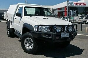 2009 Nissan Patrol GU 6 MY08 ST White 5 Speed Manual Cab Chassis Keysborough Greater Dandenong Preview