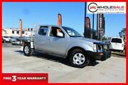 2010 Nissan Navara D40 ST Utility Dual Cab 4dr Man 6sp 4x4 875kg 2.5DT Silver Manual Utility Minchinbury Blacktown Area Preview