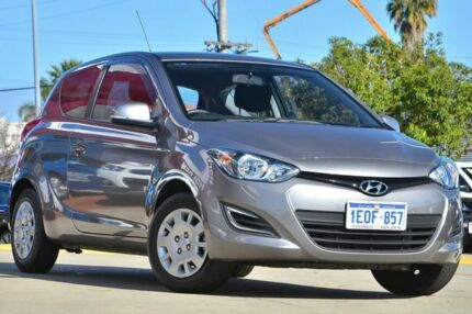 2014 Hyundai i20 PB MY14 Active Grey 4 Speed Automatic Hatchback Victoria Park Victoria Park Area Preview