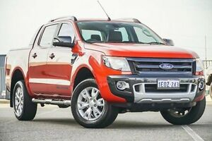 2014 Ford Ranger PX Wildtrak 3.2 (4x4) Orange 6 Speed Automatic Crew Cab Utility Wangara Wanneroo Area Preview