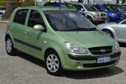2009 Hyundai Getz TB MY09 S Green 4 Speed Automatic Hatchback Pearsall Wanneroo Area Preview