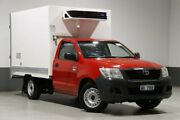 2013 Toyota Hilux TGN16R MY12 Workmate Red 5 Speed Manual Cab Chassis Bentley Canning Area Preview