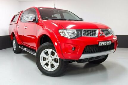 2013 Mitsubishi Triton MN MY14 GLX-R Double Cab Red 5 Speed Sports Automatic Utility