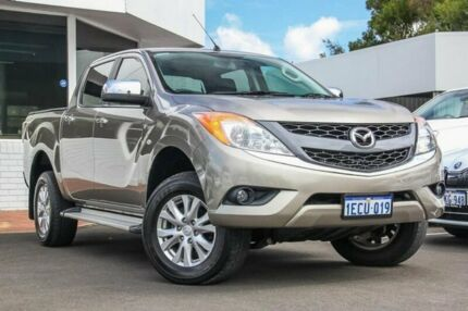 2012 Mazda BT-50 UP0YF1 XTR Gold 6 Speed Sports Automatic Utility Victoria Park Victoria Park Area Preview