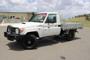 2012 Toyota Landcruiser VDJ79R MY10 Workmate White 5 Speed Manual Cab Chassis Run-o-waters Goulburn City Preview