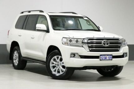 2018 Toyota Landcruiser VDJ200R MY19 LC200 VX (4x4) White 6 Speed Automatic Wagon Bentley Canning Area Preview