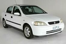 2000 Holden Astra TS CD White 4 Speed Automatic Sedan Melbourne CBD Melbourne City Preview
