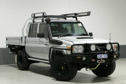 2014 Toyota Landcruiser VDJ79R MY12 Update GXL (4x4) Silver 5 Speed Manual Double Cab Chassis Bentley Canning Area Preview