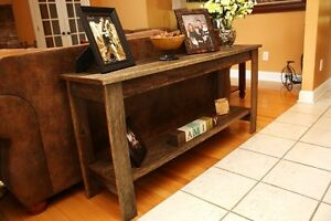 Barn board  sofa or tv table