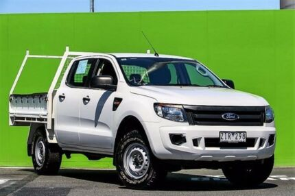 2012 Ford Ranger PX XL Double Cab White 6 Speed Sports Automatic Cab Chassis Ringwood East Maroondah Area Preview