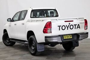 2016 Toyota Hilux GUN126R SR Double Cab White 6 Speed Manual Utility