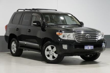 2013 Toyota Landcruiser VDJ200R MY13 Sahara (4x4) Black 6 Speed Automatic Wagon Bentley Canning Area Preview