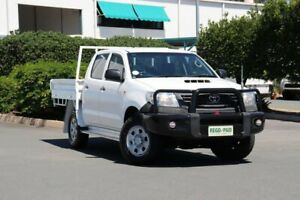 2012 Toyota Hilux KUN26R MY12 Workmate Double Cab White 5 Speed Manual Utility