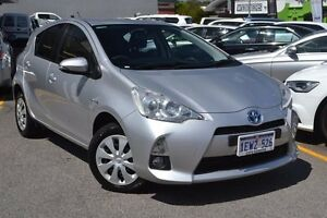 2012 Toyota Prius c NHP10R E-CVT Silver 1 Speed Constant Variable Hatchback Hybrid Claremont Nedlands Area Preview