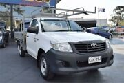 2013 Toyota Hilux TGN16R MY12 Workmate White Manual Cab Chassis Campbelltown Campbelltown Area Preview