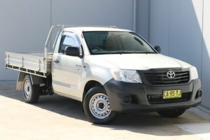 2014 Toyota Hilux TGN16R MY14 Workmate 4x2 Silver 5 Speed Manual Cab Chassis Liverpool Liverpool Area Preview