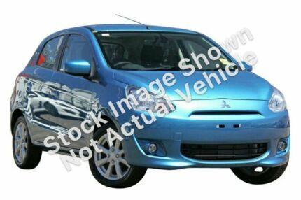 2013 Mitsubishi Mirage LA MY14 LS Cyber Blue 1 Speed Constant Variable Hatchback Slacks Creek Logan Area Preview