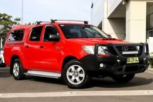 2012 Toyota Hilux KUN16R MY12 SR Double Cab 4x2 Red 5 Speed Manual Utility Kirrawee Sutherland Area Preview