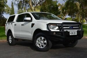 2014 Ford Ranger PX XLS Double Cab White 6 Speed Sports Automatic Utility St Marys Mitcham Area Preview