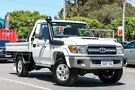 2018 Toyota Landcruiser White Manual Cab Chassis