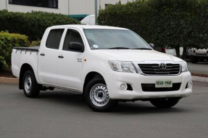 2014 Toyota Hilux GGN15R MY14 SR Double Cab 4x2 Glacier 5 Speed Automatic Utility Acacia Ridge Brisbane South West Preview