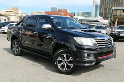2014 Toyota Hilux KUN26R MY14 Black Double Cab Limited Edition Ink 5 Speed Automatic Utility