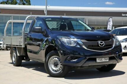 2016 Mazda BT-50 UR0YD1 XT 4x2 Blue 6 Speed Manual Cab Chassis Castle Hill The Hills District Preview