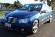 2004 Mercedes-Benz C180 Kompressor CL203 MY2003 Classic Blue 5 Speed Automatic Sedan West Footscray Maribyrnong Area Preview